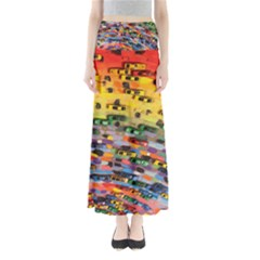 Car Painting Modern Art Maxi Skirts