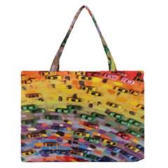 Car Painting Modern Art Medium Zipper Tote Bag