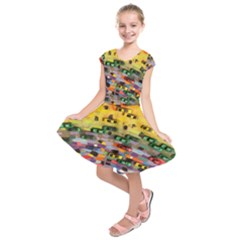 Car Painting Modern Art Kids  Short Sleeve Dress