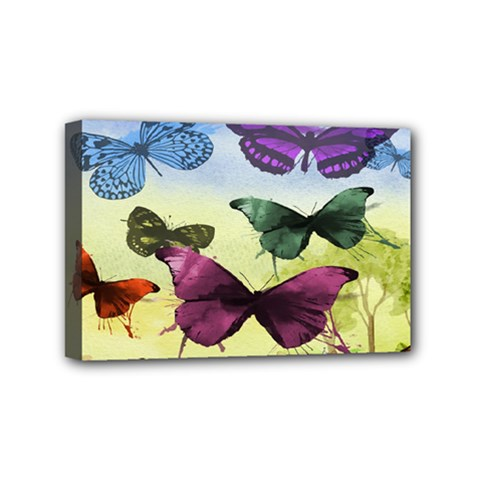 Butterfly Painting Art Graphic Mini Canvas 6  X 4
