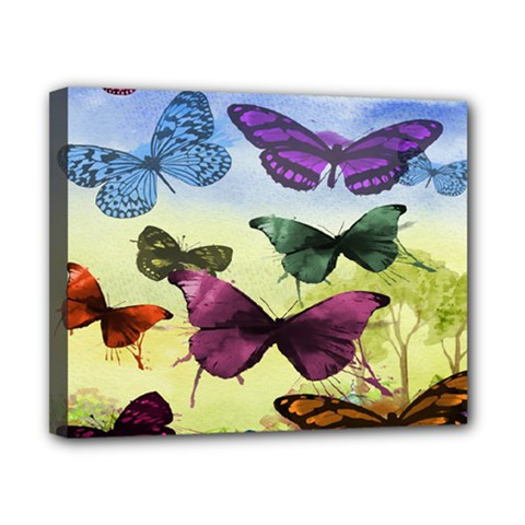 Butterfly Painting Art Graphic Canvas 10  X 8