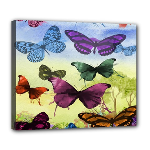 Butterfly Painting Art Graphic Deluxe Canvas 24  x 20