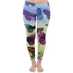 Butterfly Painting Art Graphic Classic Winter Leggings
