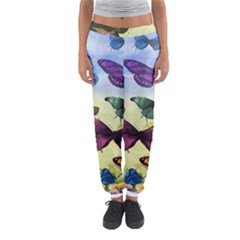 Butterfly Painting Art Graphic Women s Jogger Sweatpants