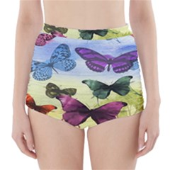 Butterfly Painting Art Graphic High Waisted Bikini Bottoms
