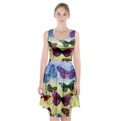 Butterfly Painting Art Graphic Racerback Midi Dress
