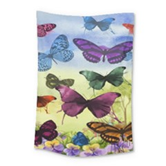 Butterfly Painting Art Graphic Small Tapestry