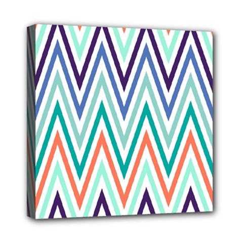 Chevrons Colourful Background Mini Canvas 8  x 8