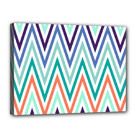 Chevrons Colourful Background Canvas 16  X 12