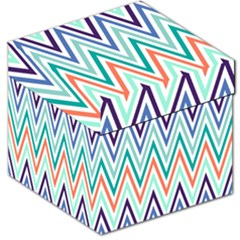 Chevrons Colourful Background Storage Stool 12