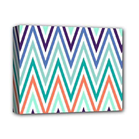 Chevrons Colourful Background Deluxe Canvas 14  x 11
