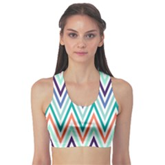 Chevrons Colourful Background Sports Bra