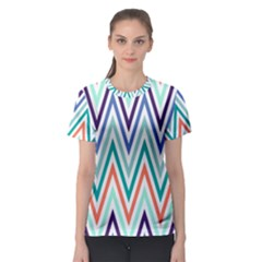 Chevrons Colourful Background Women s Sport Mesh Tee