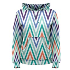 Chevrons Colourful Background Women s Pullover Hoodie