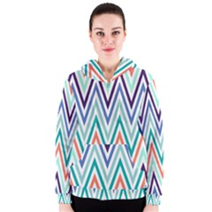 Chevrons Colourful Background Women s Zipper Hoodie