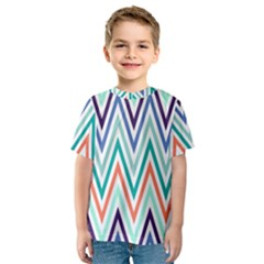 Chevrons Colourful Background Kids  Sport Mesh Tee