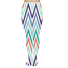 Chevrons Colourful Background Women s Tights