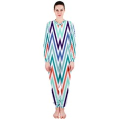 Chevrons Colourful Background OnePiece Jumpsuit (Ladies)