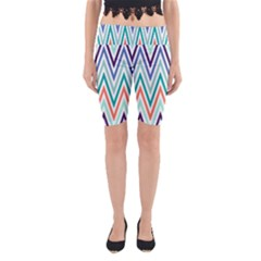 Chevrons Colourful Background Yoga Cropped Leggings