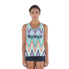 Chevrons Colourful Background Women s Sport Tank Top