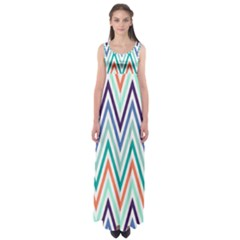 Chevrons Colourful Background Empire Waist Maxi Dress