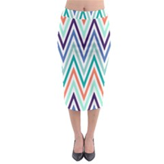 Chevrons Colourful Background Midi Pencil Skirt