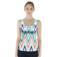 Chevrons Colourful Background Racer Back Sports Top