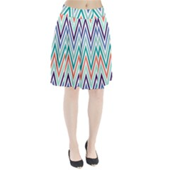 Chevrons Colourful Background Pleated Skirt