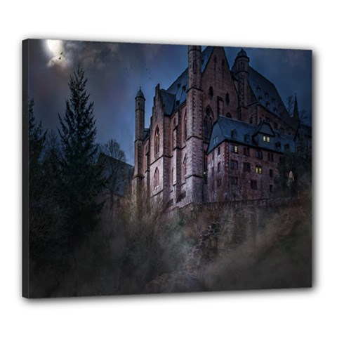 Castle Mystical Mood Moonlight Canvas 24  x 20