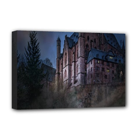 Castle Mystical Mood Moonlight Deluxe Canvas 18  x 12