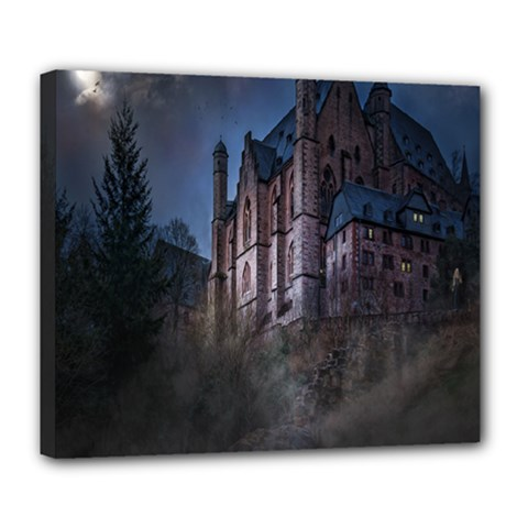 Castle Mystical Mood Moonlight Deluxe Canvas 24  x 20