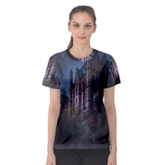 Castle Mystical Mood Moonlight Women s Sport Mesh Tee