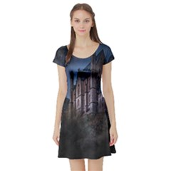Castle Mystical Mood Moonlight Short Sleeve Skater Dress