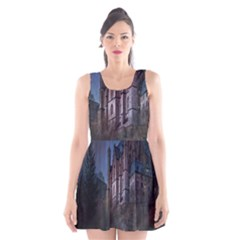Castle Mystical Mood Moonlight Scoop Neck Skater Dress