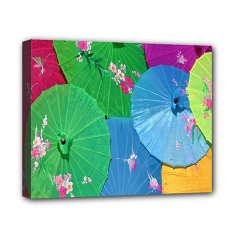 Chinese Umbrellas Screens Colorful Canvas 10  X 8