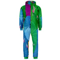 Chinese Umbrellas Screens Colorful Hooded Jumpsuit (men)
