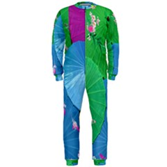 Chinese Umbrellas Screens Colorful OnePiece Jumpsuit (Men)