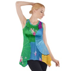 Chinese Umbrellas Screens Colorful Side Drop Tank Tunic