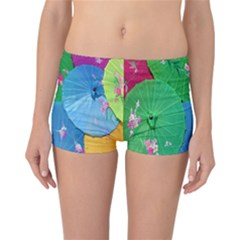 Chinese Umbrellas Screens Colorful Reversible Bikini Bottoms