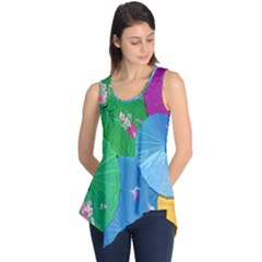 Chinese Umbrellas Screens Colorful Sleeveless Tunic