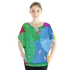 Chinese Umbrellas Screens Colorful Blouse