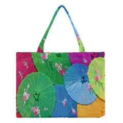 Chinese Umbrellas Screens Colorful Medium Tote Bag