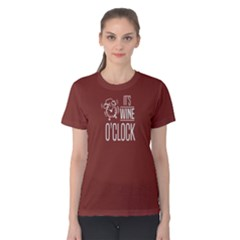 Red It s Wine O Clock Women s Cotton Tee