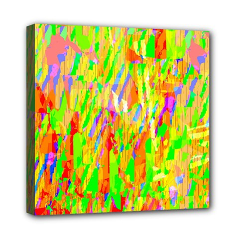 Cheerful Phantasmagoric Pattern Mini Canvas 8  x 8