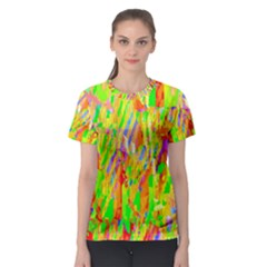 Cheerful Phantasmagoric Pattern Women s Sport Mesh Tee