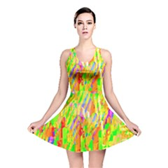 Cheerful Phantasmagoric Pattern Reversible Skater Dress