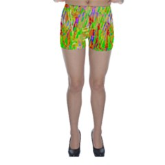 Cheerful Phantasmagoric Pattern Skinny Shorts