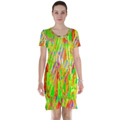 Cheerful Phantasmagoric Pattern Short Sleeve Nightdress