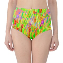 Cheerful Phantasmagoric Pattern High-Waist Bikini Bottoms