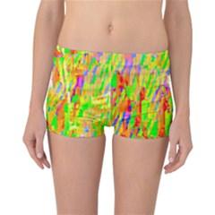 Cheerful Phantasmagoric Pattern Reversible Bikini Bottoms